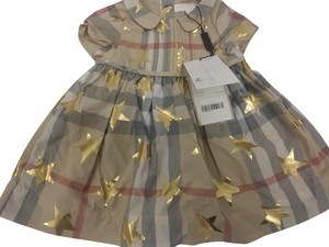 Burberry short dress Gold Stars Children's Clothes Checkered on Tradesy