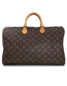 Louis Vuitton Monogram Top Handle Tote in brown