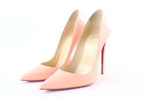 Christian Louboutin Follies Pigalle So Kate Lady Peep Red Bottoms Pink Sandals