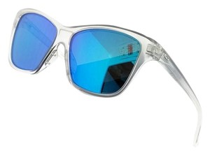 Oakley OO9298-09 Hold On Women's Clear Frame Blue Lens Genuine Sunglasses