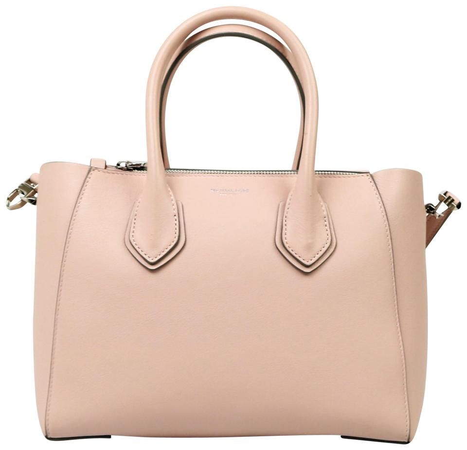 3e56d86da7d66 Michael Kors Collection Cameo Removable Strap Protective Feet Structured  Handles Satchel in Pink Image 0 ...