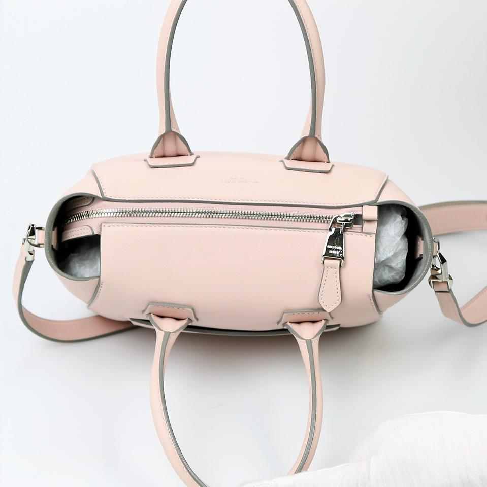 e2a89904b0a03 Michael Kors Collection Helena Small M318-1 Pink Leather Satchel ...