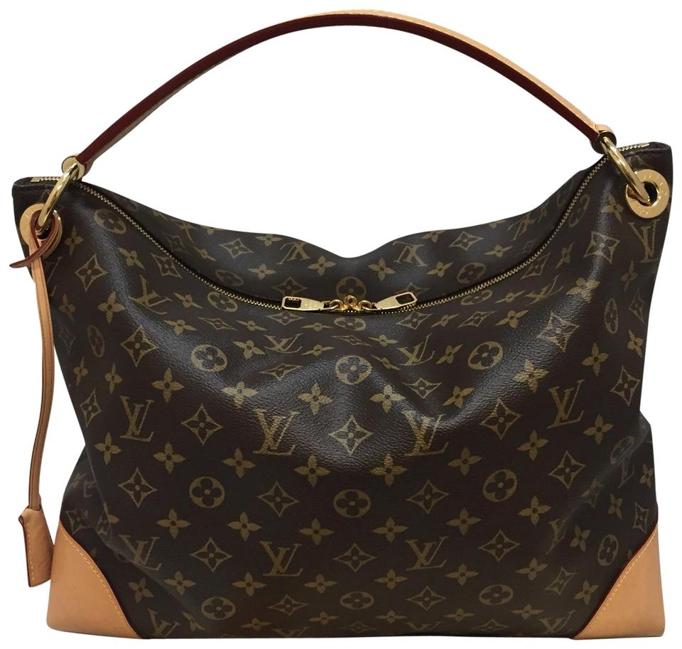 3cb23b658acac Louis Vuitton Berri Mm Monogram with Dustbag and Receipt Brown Canvas Hobo  Bag