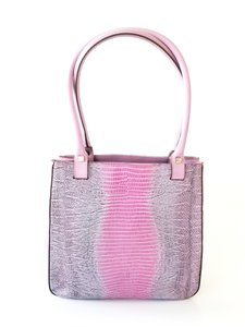 Salvatore Ferragamo Leather Chic Casual Embellished Tote in Purple