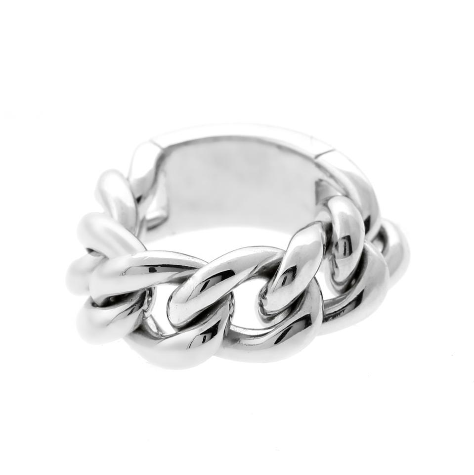d2020e89257 Dior White Gold Chain Gourmette Link - Opulent Ring