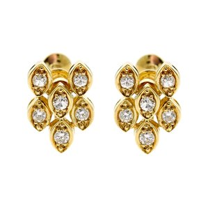 Dior Dior Diamond Gold Earrings - Opulent Jewelers
