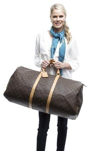 Louis Vuitton Keepall 60 Brown Travel Bag