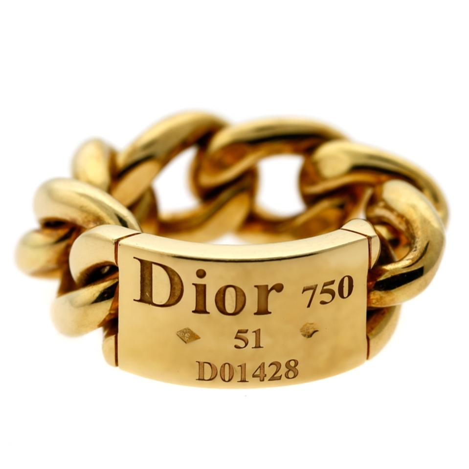0ad86aaa1a7 Dior Yellow Gold Chain Gourmette Link - Opulent Ring