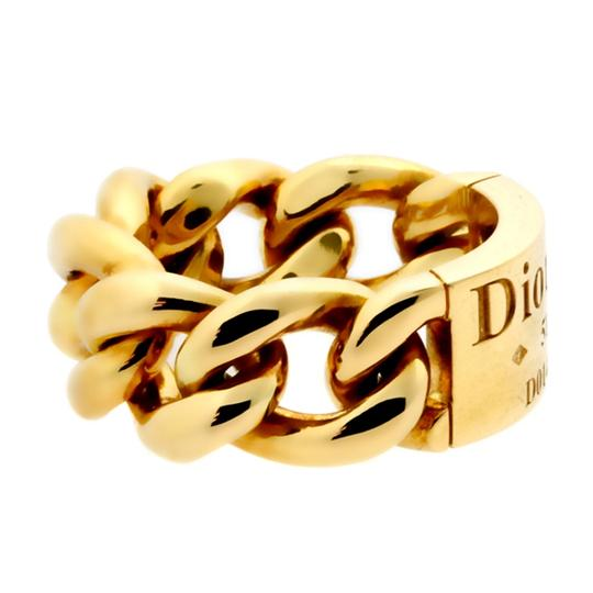 Dior Dior Gold Chain Gourmette Link Ring - Opulent Jewelers Image 1