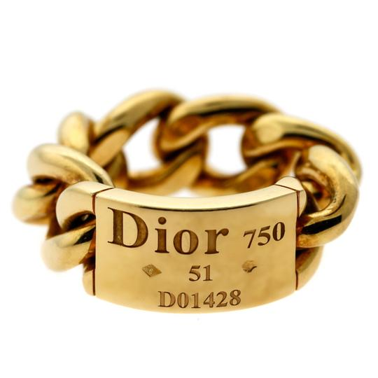 Dior Dior Gold Chain Gourmette Link Ring - Opulent Jewelers Image 2