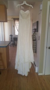 Galina Ivory Lace: 70% Cotton and 30% Nylon Lining: Polyester Wg3782 Vintage Wedding Dress Size 4 (S)