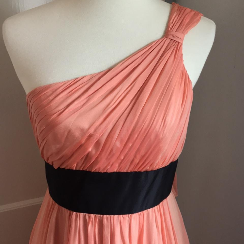Kay Unger Coral Evening Gown Long Formal Dress Size 6 (S) - Tradesy