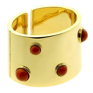 FRED Fred of Paris Coral Gold Cuff Bracelet - Opulent Jewelers