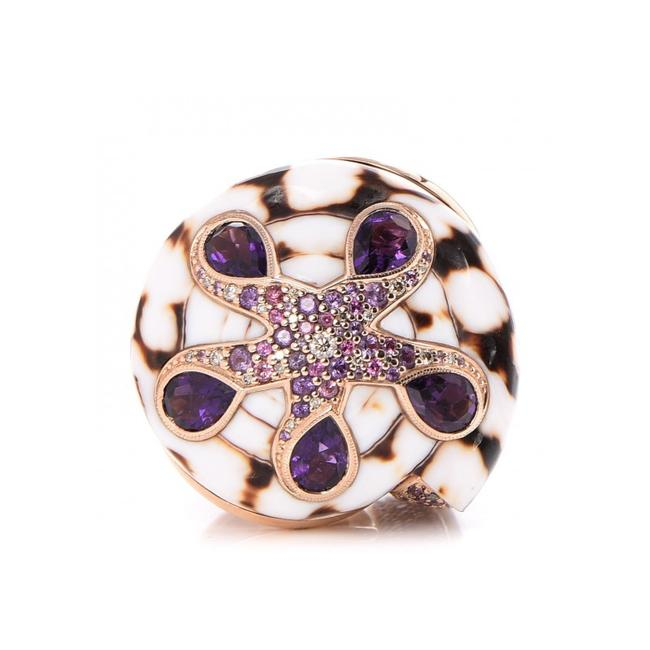 Item - Purple Cinta Collection Marble Cone Shell Ring