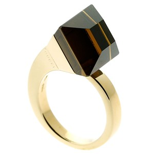 Gucci Gucci Chiodo Smokey Quartz Gold Ring - Opulent Jewelers