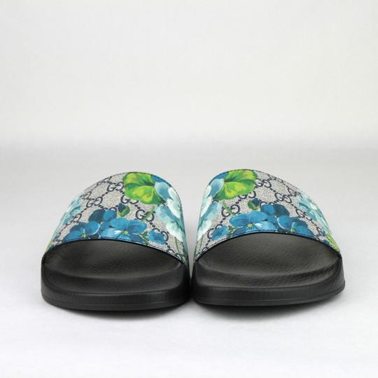 8dd9bf5ade0 Gucci Blue Men s Bloom Print Flower Slide Sandals 13g  Us 14 407345 8498  Shoes Image