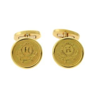 Hermès Hermes Yellow Gold Cufflinks - Opulent Jewelers