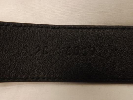 Prada Black Textured Leather Small Silver Buckle Belt Size 90-36 Men's Jewelry/Accessory Image 2