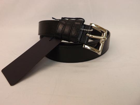 Prada Black Textured Leather Small Silver Buckle Belt Size 90-36 Men's Jewelry/Accessory Image 6