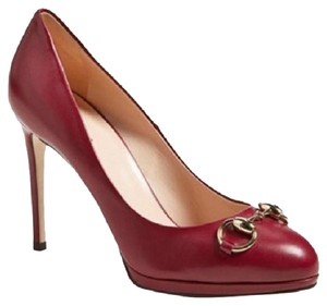 Gucci Raspberry Sorbet Burgundy Leather Pumps