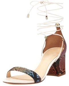 Alexandre Birman Leather Python Ankle-wrap Multicolor Sandals