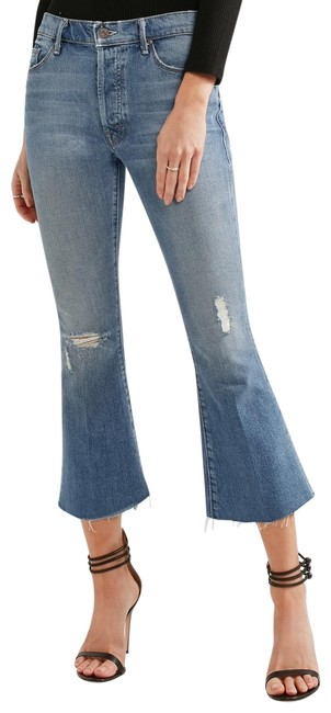 Item - Twice As Nice Distressed The Nomad Crop Fray Flare Leg Jeans Size 29 (6, M)