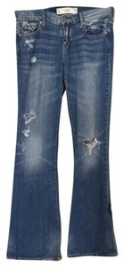 Abercrombie & Fitch Denim Distressed Boot Cut Jeans-Distressed