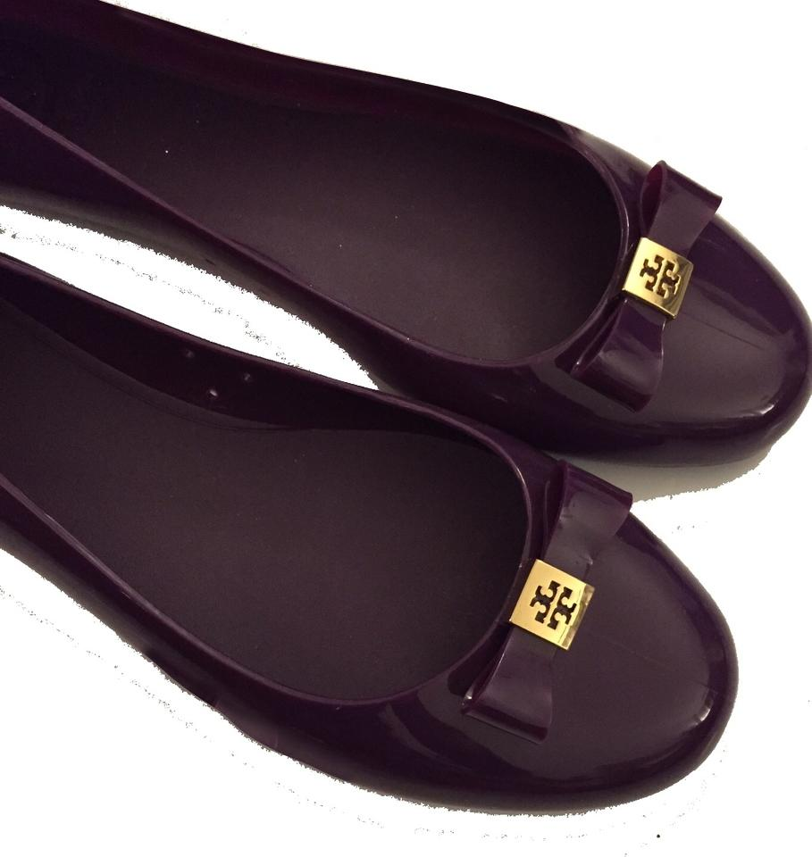 711d55c6ed8 Tory Burch Purple New Women Jelly Ballet with Bow Flats Size US 10 ...