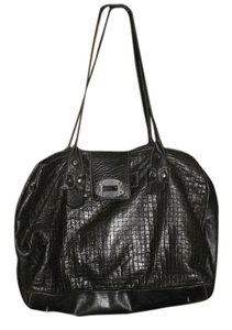 kimenkom Leather Leather Tote in black