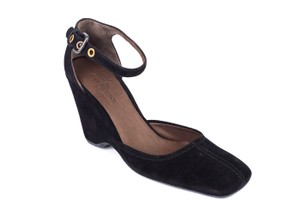 The Original Car Shoe Black Wedges