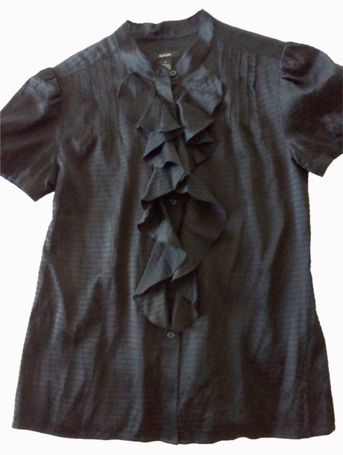 Preload https://item4.tradesy.com/images/alfani-black-ruffle-blouse-button-down-top-size-4-s-2248068-0-0.jpg?width=400&height=650