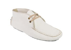 The Original Car Shoe Ivory Flats