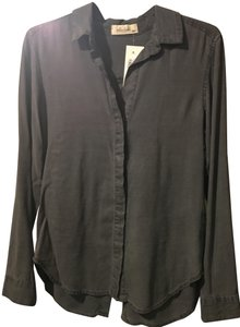 Bella Dahl Soft Button Down Shirt Stone Heather