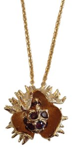 Alexander McQueen ALEXANDER MCQUEEN AUTHENTIC NWT SKULL CHESTNUT PENDANT NECKLACE