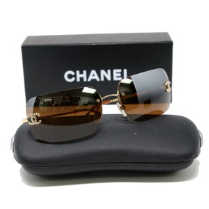 Chanel Signature CC Monogram Diamond Studded Style Aviator Style 4017