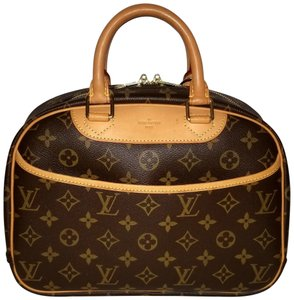 Louis Vuitton Monogram Baby Bags Toiletry Bags Cosmetic Bags Satchel in Brown