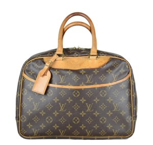 Louis Vuitton Deauville Leather Monogram Tote in Brown