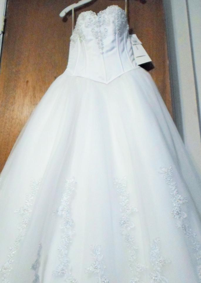 David\'s Bridal White Santa Monica Couture Collection Traditional ...