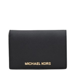 ba74efb6f593 Michael Kors NWT $108 Michael Kors Jet Set Leather Wallet In Black