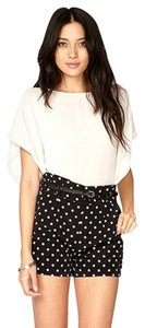 Forever 21 Shorts Black with White Polkadots