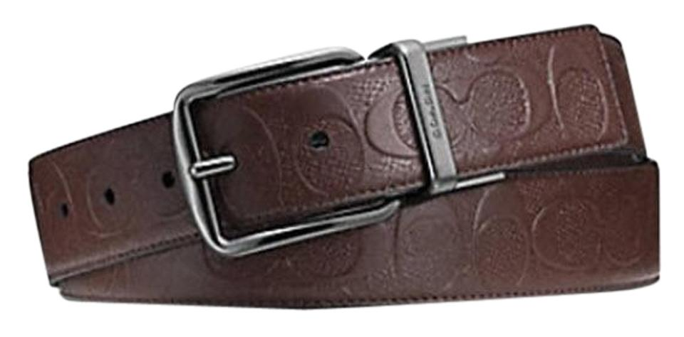 4fd1aac6a71f1 Coach WIDE HARNESS CUT-TO-SIZE REVERSIBLE SIGNATURE LEATHER BELT F55157  Image 0 ...