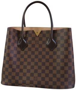 Louis Vuitton Damier Ebene Kensington Canvas Satchel in brown