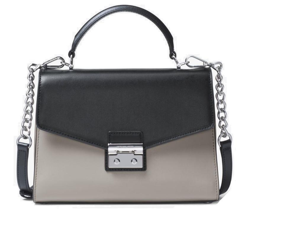 0824d6e96a MICHAEL Michael Kors Color-block Grey Black Top-handle Leather Mk Sloan  Shoulder ...