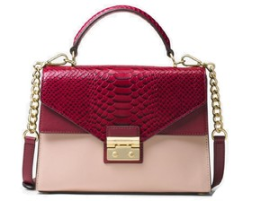 MICHAEL Michael Kors Sloan Top-handle Shoulder Pink/Mulberry Satchel in Soft Pink Mulberry