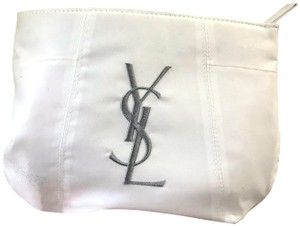 Saint Laurent Cosmetic White Clutch