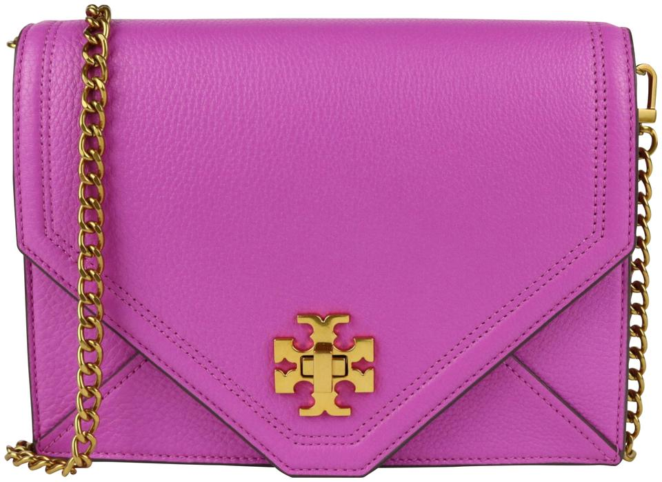 6cdf093e89365 Tory Burch Kira Bright Orchid Cowhide Leather Cross Body Bag - Tradesy