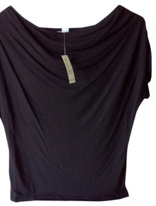 Old Navy Draped Neck Top Black