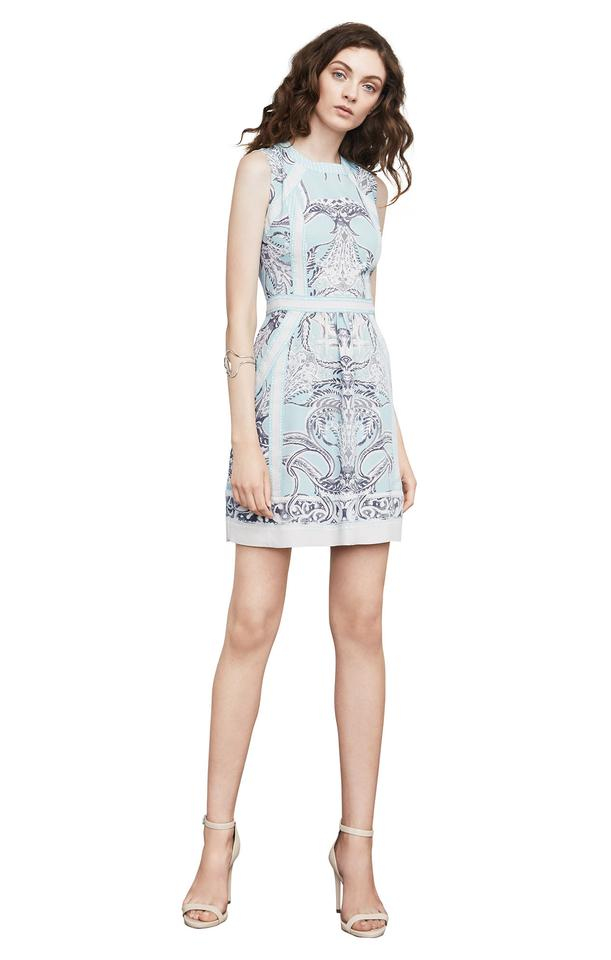 BCBGMAXAZRIA Blue White Grey Donatella Short Cocktail Dress Size 12 ...