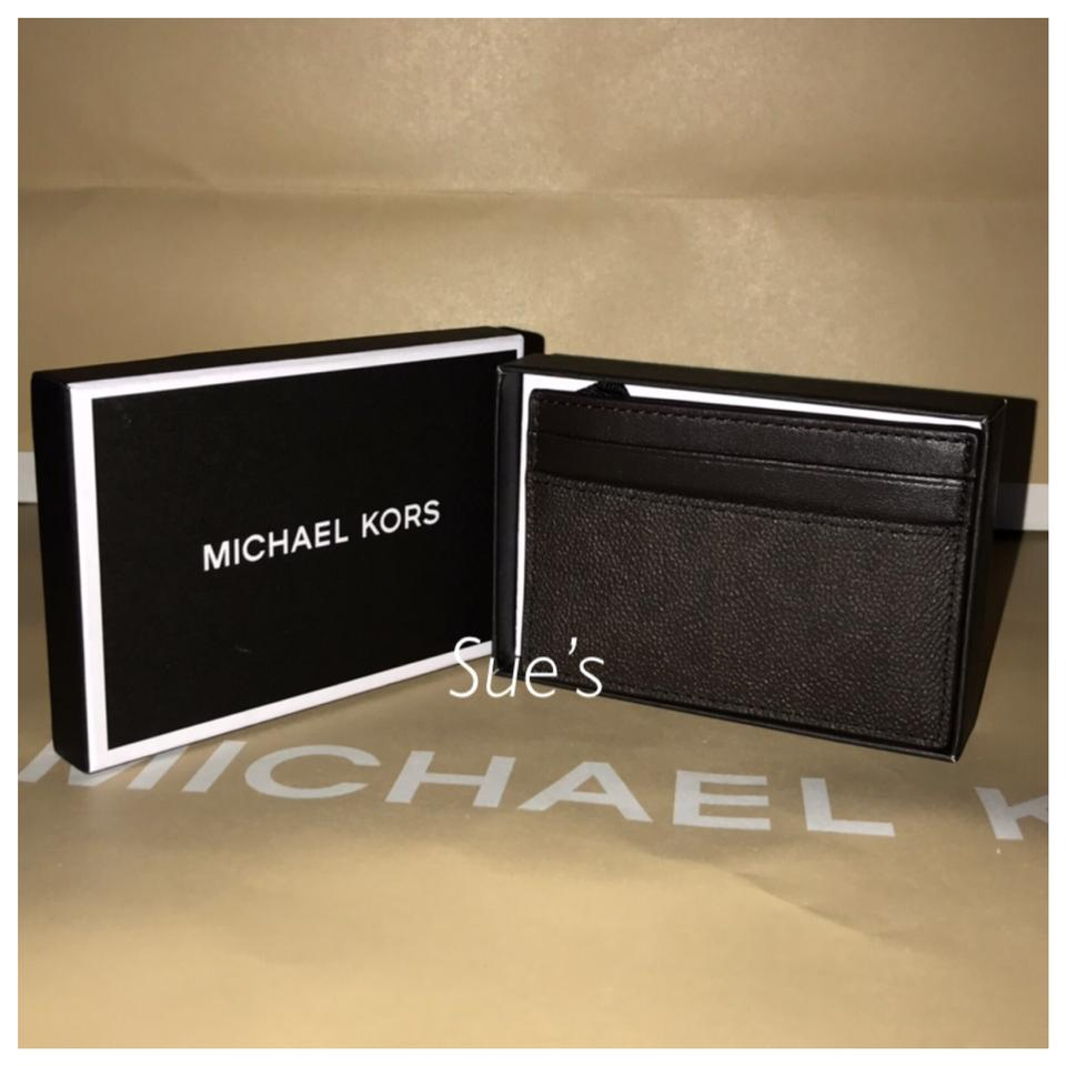 the best attitude c08c4 3c0c1 Michael Kors Brown Mk Mens Card Case with Money Clip Wallet