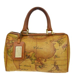 Alviero martini logos geo map hand pvc italy 08v418 brown leather alviero martini made in italy tote in brown gumiabroncs Image collections